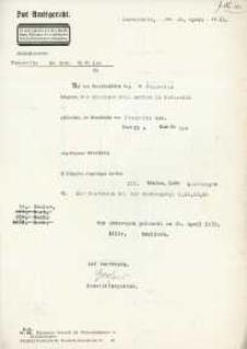 Wyrok Sądu Rejonowego w Głubczycach z 24.04.1933 r.