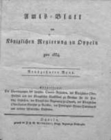 Amts-Blatt der Königlichen Regierung zu Oppeln pro 1834, 19 Bd.