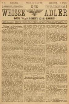Der Weisse Adler, 1920, Jg. 2, No. 44
