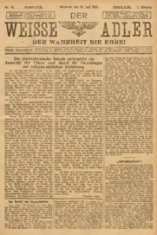 Der Weisse Adler, 1920, Jg. 2, No. 52