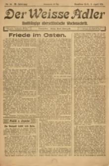 Der Weisse Adler, 1921, Jg. 3, Nr. 14