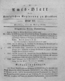 Amts-Blatt der Königlichen Regierung zu Breslau, 1834, Bd. 25, St. 12