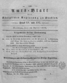 Amts-Blatt der Königlichen Regierung zu Breslau, 1834, Bd. 25, St. 15/16