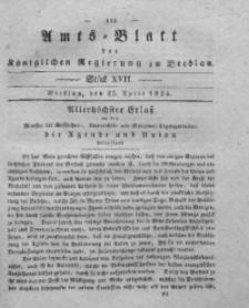 Amts-Blatt der Königlichen Regierung zu Breslau, 1834, Bd. 25, St. 17