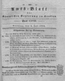 Amts-Blatt der Königlichen Regierung zu Breslau, 1834, Bd. 25, St. 28