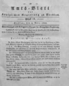 Amts-Blatt der Königlichen Regierung zu Breslau, 1835, Bd. 26, St. 9