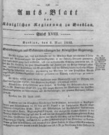 Amts-Blatt der Königlichen Regierung zu Breslau, 1835, Bd. 26, St. 18