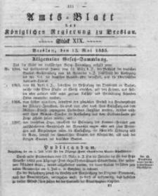 Amts-Blatt der Königlichen Regierung zu Breslau, 1835, Bd. 26, St. 19
