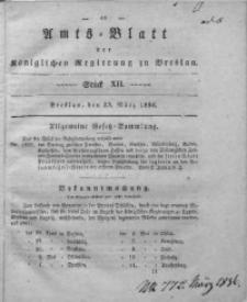Amts-Blatt der Königlichen Regierung zu Breslau, 1836, Bd. 27, St. 12