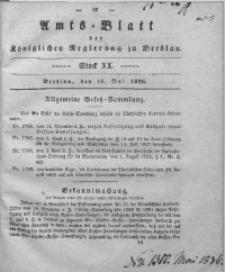 Amts-Blatt der Königlichen Regierung zu Breslau, 1836, Bd. 27, St. 20