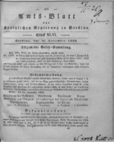Amts-Blatt der Königlichen Regierung zu Breslau, 1836, Bd. 27, St. 46