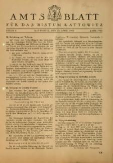 Amts Blatt für das Bistum Kattowitz, 1943, St. 4