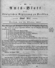 Amts-Blatt der Königlichen Regierung zu Breslau, 1837, Bd. 28, St. 41