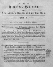 Amts-Blatt der Königlichen Regierung zu Breslau, 1838, Bd. 29, St. 10