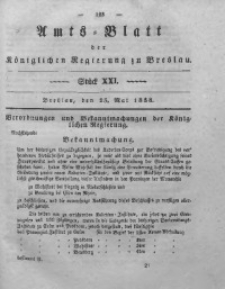 Amts-Blatt der Königlichen Regierung zu Breslau, 1838, Bd. 29, St. 21