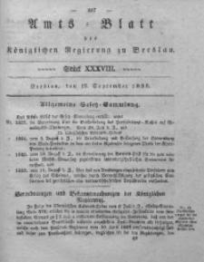 Amts-Blatt der Königlichen Regierung zu Breslau, 1838, Bd. 29, St. 38