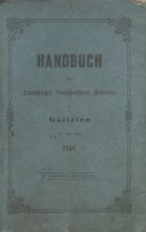 Handbuch des Lemberger Statthalterei-Gebietes in Galizien für das Jahr 1860