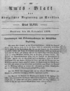 Amts-Blatt der Königlichen Regierung zu Breslau, 1838, Bd. 29, St. 48
