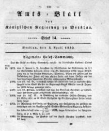 Amts-Blatt der Königlichen Regierung zu Breslau, 1839, Bd. 30, St. 14