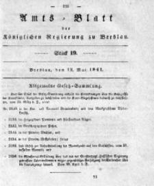 Amts-Blatt der Königlichen Regierung zu Breslau, 1841, Bd. 32, St. 19