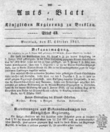 Amts-Blatt der Königlichen Regierung zu Breslau, 1841, Bd. 32, St. 43