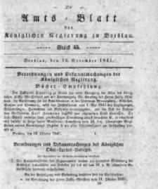 Amts-Blatt der Königlichen Regierung zu Breslau, 1841, Bd. 32, St. 45