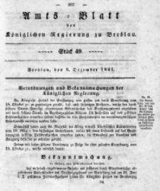 Amts-Blatt der Königlichen Regierung zu Breslau, 1841, Bd. 32, St. 49