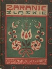 Zaranie Śląskie, 1908, R. 1, z. 4