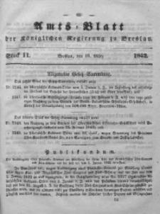 Amts-Blatt der Königlichen Regierung zu Breslau, 1842, Bd. 33, St.11