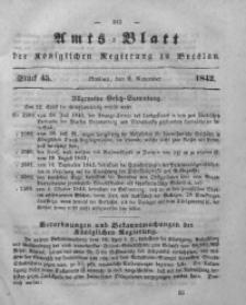 Amts-Blatt der Königlichen Regierung zu Breslau, 1842, Bd. 33, St.45