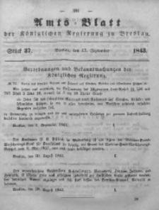 Amts-Blatt der Königlichen Regierung zu Breslau, 1843, Bd. 34, St.37