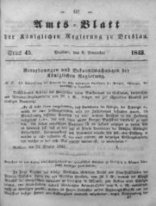 Amts-Blatt der Königlichen Regierung zu Breslau, 1843, Bd. 34, St.45