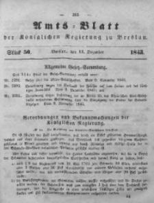 Amts-Blatt der Königlichen Regierung zu Breslau, 1843, Bd. 34, St.50