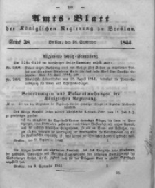 Amts-Blatt der Königlichen Regierung zu Breslau, 1844, Bd. 35, St.38