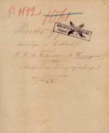 Pierwszy proces. Komedya w 3 aktach przez P. P. A. Delacour i A. Hennequin, przekład Aleksandra Podwyszyńskiego