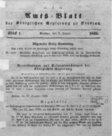 Amts-Blatt der Königlichen Regierung zu Breslau, 1845, Bd. 36, St. 1