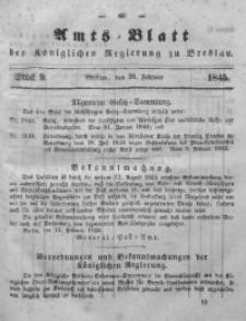 Amts-Blatt der Königlichen Regierung zu Breslau, 1845, Bd. 36, St. 9
