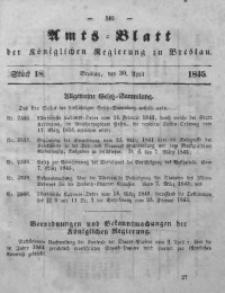 Amts-Blatt der Königlichen Regierung zu Breslau, 1845, Bd. 36, St. 18