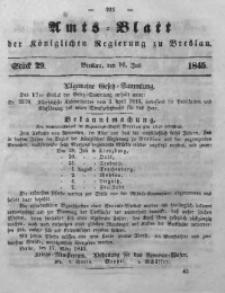 Amts-Blatt der Königlichen Regierung zu Breslau, 1845, Bd. 36, St. 29