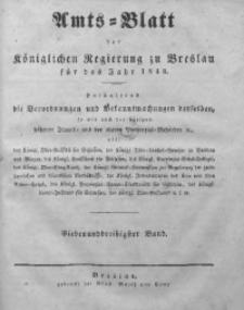 Amts-Blatt der Königlichen Regierung zu Breslau, 1846, Bd. 37, St. 1