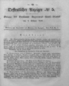 Oeffentlicher Anzeiger, 1848, Bd. 37, No 5
