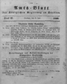 Amts-Blatt der Königlichen Regierung zu Breslau, 1846, Bd. 37, St. 27