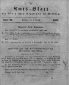Amts-Blatt der Königlichen Regierung zu Breslau, 1846, Bd. 37, St. 31