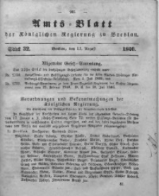 Amts-Blatt der Königlichen Regierung zu Breslau, 1846, Bd. 37, St. 32