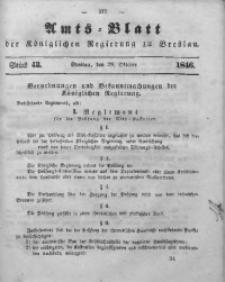 Amts-Blatt der Königlichen Regierung zu Breslau, 1846, Bd. 37, St. 43