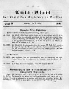 Amts-Blatt der Königlichen Regierung zu Breslau, 1848, Bd. 39, St. 9