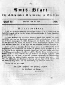 Amts-Blatt der Königlichen Regierung zu Breslau, 1848, Bd. 39, St. 22