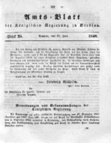 Amts-Blatt der Königlichen Regierung zu Breslau, 1848, Bd. 39, St. 25