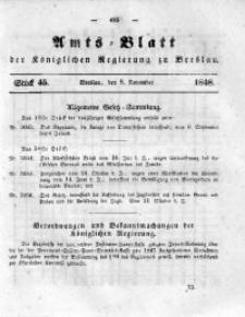 Amts-Blatt der Königlichen Regierung zu Breslau, 1848, Bd. 39, St. 45