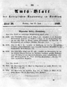 Amts-Blatt der Königlichen Regierung zu Breslau, 1849, Bd. 40, St. 24